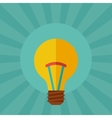 Light bulb idea concept in flat style vector