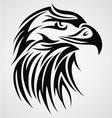 Eagle head tattoo design vector