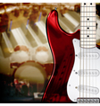 Abstract music background with electric guitar vector