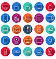 Electronic flat web icons vector