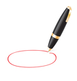 Ball pen draws jauntily circle vector