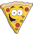 Cartoon slice of pizza vector