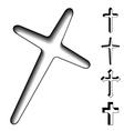 Black christian crosses vector