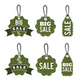 Set of sale tags design template vector