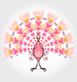 Valentine love bird peacock vector