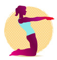 Colorful of yoga asana silhouette for stretching vector
