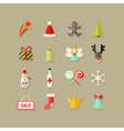 Christmas flat icons set 3 vector