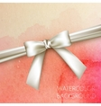 Abstract watercolor background with white bow and vector