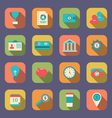 Flat icons of web design objects business office vector