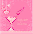 Invitation to valentine day cocktail party vector