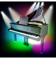 Abstract music background with grand piano and vector