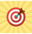 Darts target concept in flat style vector