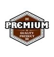 Premium quality product label vector