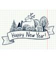 New year ribbon banner vector