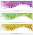 Abstract crystal wave speed line website header vector