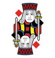 Jack of diamonds no card vector