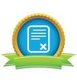 Gold no document logo vector
