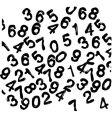 Numbers wallpaper vector