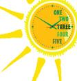 Clock green in sun vector