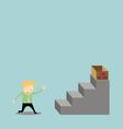 Businessman climbing the ladder of my job vector