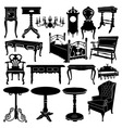 Antique furniture vector