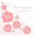 Cute handmade floral card vector