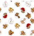 Domestic animals pattern vector