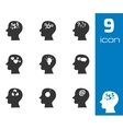 Black thoughts icons set vector