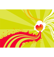 Stylized heart background vector