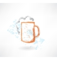 Beer grunge icon vector