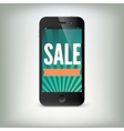 Smartphone with word sale on display vector
