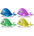 Four whales vector