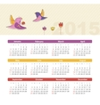 Calendar 2015 year with birds vector