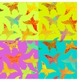 Seamless colorful butterfly pattern vector