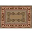 Luxurious oriental rug with original pattern vector