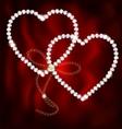 Two jewel hearts vector