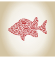 Fish a lip vector