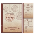Special christmas restaurant menu for pizza vector