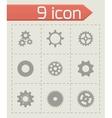 Gear icons set vector