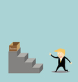 Businessman climbing the ladder of success vector