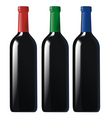 Bottles black vector