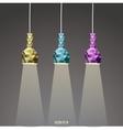 Abstract lamp set vector
