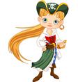 Pirate girl vector
