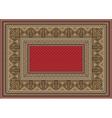 Luxurious oriental carpet with original pattern vector
