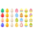 Set of different easter eggs vector
