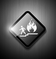 Fire exit sign modern design vector