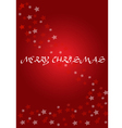 Elegant christmas red background with calabration vector