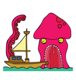 Kraken cartoon vector