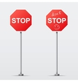 Stop and dont stop road sign isolated vector