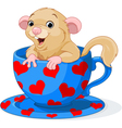 Cute dormouse vector